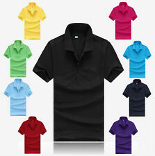 Men's Sports T Shirt Hot Polo Tee Cotton Short Sleeve T Shirt Slim Fit Casual