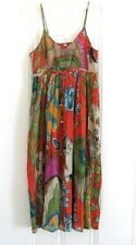 Vtg Free Spirit Boho Hippie People Gypsy Slip Empire Waist Gauzy Dress S