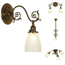 SOLID ANTIQUE BRASS VICTORIAN ROPE DESIGN SCONCE / PENDANT / FIXTURE ~ NEW!