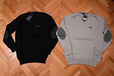 New Mens Genuine Hugo Boss SWEATER V neck JUMPER black label black & grey colors