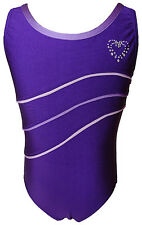 TALENT TALE GIRLS DANCE/ GYMNASTIC  Tank Leotard with Piping & Rhinestone