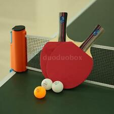 New Stiga Classic 1 Pair of Ping Pong Paddles+3 Balls Racket+1 Net Set DD G2C9