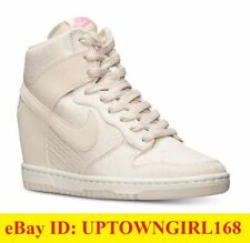 NIKE Dunk Sky High Hi Top TXT Textile Wedge Sneakers WHITE US Sz 7.5 8 8.5 9 New