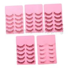 5 Pairs Natural Long Cross False Eyelashes Eye Lashes Makeup - Various Patterns