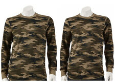 LOT Of 2 Croft & Barrow Men's LT XLT Green Camo Thermal Base Layer Shirt NEW