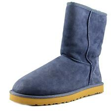 Ugg Australia Classic Short Men  Round Toe Suede Blue Winter Boot