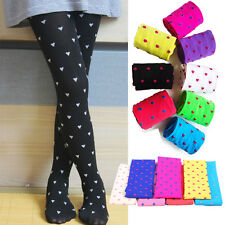 Toddlers Kids Girls Tights Stockings Pantyhose Pants Cute Polka Dot NEW 4-12Y