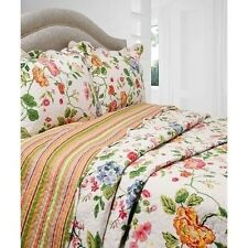 NEW Twin Full Queen King Bed 3 pc Quilt Set Coverlet Reversible Floral Stripes