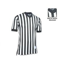 New Champro Basketball Referee Official Dri-Gear Black White Jersey Shirt XS-3XL