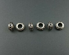 big hole metal beads connector loose spacer metal beads for jewelry making 4x7mm