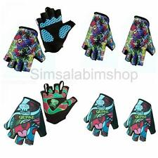 Outdoor Sports Cycling Bicycle Fingerless Gloves Gel Palm Half Finger Gloves