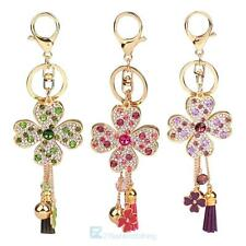 Fashion Crystal Clover Key ring Pendant Charm Key Bag Chain car Keychain Gift