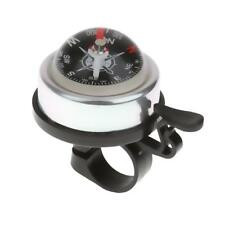 Alloy & Plasitc Bicycle Safety Cycle Bike Ring Alarm Bell Horn Compass