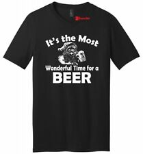Most Wonderful Time For Beer Funny Christmas Mens VNeck T Shirt Holiday Xmas Tee
