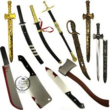 Halloween Plastic Fake Pirate Blood Knife Sword Simulation Weapon Decoration Toy