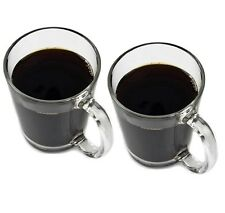 Set Of 2 Extra Large Tea Coffee Latte Cappuccino Mugs Cups 397ml Fully Toughened