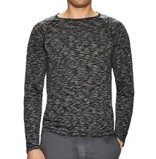 John Varvatos Star USA Men's Raglan Crew T-Shirt Space Dyed Black $98 msrp NWT