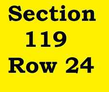 2 Tickets Red Hot Chili Peppers Houston Toyota Center Saturday, January 7, 2017