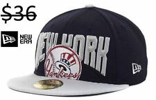 New York Yankees Men New Era 59Fifty Fitted Baseball Hat Cap MLB Team Apparel
