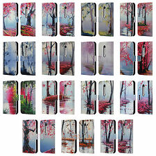 OFFICIAL GRAHAM GERCKEN TREES LEATHER BOOK WALLET CASE COVER FOR MOTOROLA PHONES