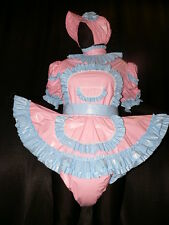 Adult Sissy Baby Zofe pvc dress with sewn in diaper panty*kleid & Spreizhose
