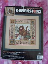 Dimensions - Cat - Counted Cross Stitch Kit - Herbal Whiskers
