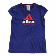 Adidas Blue Childs Tennis Tee (SIZE:Age 13-14) TENNIS POLYESTER FREE SHIPPING