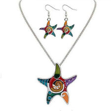 Jewelry Sets Earrings Vintage Resin Hot Bohemia Starfish Beach Necklace Drip