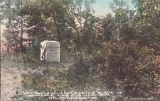 D24.Vintage Postcard.The Bivouac.Last meeting place of Generals Lee and Jackson