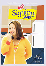 Signing Time! Vol. 12 - Time to Eat (DVD, 2004)