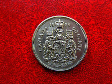 1968 NICKEL FIFTY CENT CANADA VERY NICE COIN !!!!!!!!