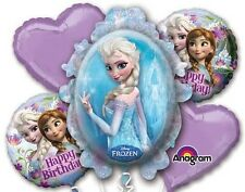 Five Balloon Frozen Birthday Balloon Bouquet