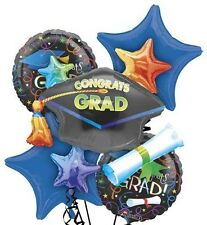 Five Balloon Grad Celebration Balloon Bouquet (Graduation)