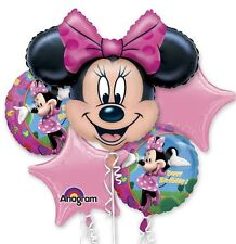 Five Balloon Minnie Mouse Birthday Balloon Bouquet