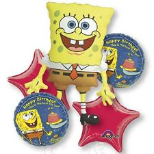 Five Balloon Spongebob Birthday Balloon Bouquet Balloons