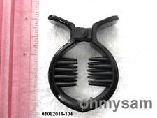 """NEW BLACK COLOR PLASTIC ROUND HAIR JAW CLIP  1 1/2 """"/ DOUBLE  COMB /CLAW 'FISH'"""