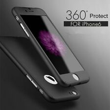 Full Protect Slim Case Cover + Tempered Glass Film For iPhone 7 Plus Samsung S7