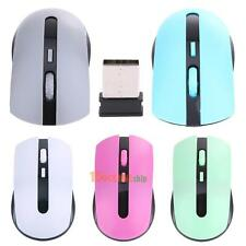 2.4G USB Wireless Optical Mouse Cordless Mice Receiver for Laptop PC