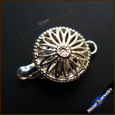 1 Strings 12mm Filigree Silver Plated Jewelry Box Clasp Findings Free shipping