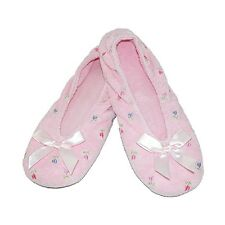 Isotoner Women's Terry Floral Ballerina Slippers - A96006
