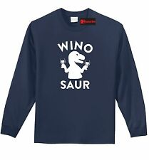 Winosaur Funny L/S T Shirt Wine Lover Gift Alcohol Party Gift Tee Shirt Z1