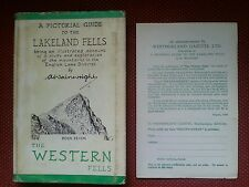 ALFRED WAINWRIGHT THE WESTERN FELLS 1966 1ST ED 5TH IMP LAKE DISTRICT + ADVERT