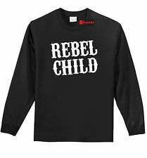 Rebel Child L/S T Shirt Cute Country Music Redneck Tee Southern Rebel Gift Z1
