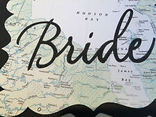 Map Theme Wedding Decorations Table Numbers, Bride, Groom, Cards Signs