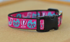 Birds & Flowers ribbon dog collar Small to medium-sized dogs FREE POSTAGE