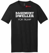 Basement Dweller For Trump Mens VNeck T Shirt Hillary Clinton Bernie Sanders