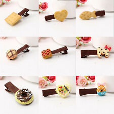 2PCS Colorful Head Clip Simulation Girl Children Hot Hair Acrylic New Biscuits