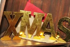 Handmade Christmas Decorations Shabby Chic Large Freestanding Wood Letters
