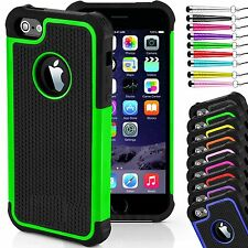 NEW ShockProof Hard Back Silicone Rubber Case Cover for iPhone Models