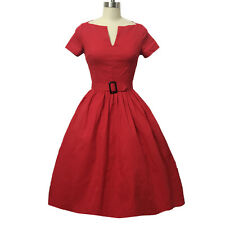 Womens 1950s Audrey Rockabilly Cocktail Party Evening Swing Dress Ball Gown